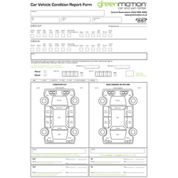 Vehicle Condition Report Pads | General | Welcome to the Venture ...